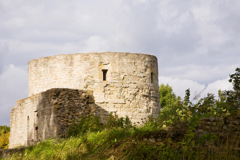 Ruins. Of medieval castle in Russia royalty free stock image