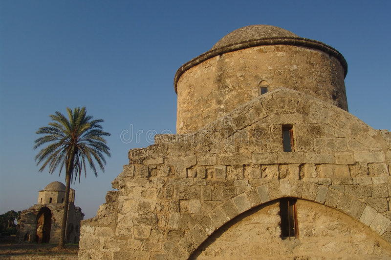 Ruins. Church ruins in Famagusta, North Cyprus stock image
