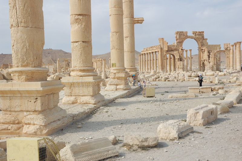 Ruins of the 2nd century AD, Palmyra stock photo