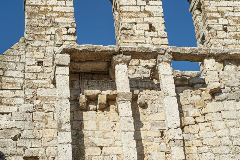 Ruins abandoned ancient church. Ruins of the Church of the Savior royalty free stock photo