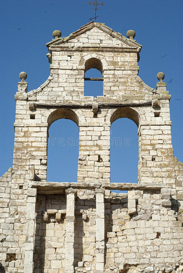 Ruins abandoned ancient church. Ruins of the Church of the Savior stock image