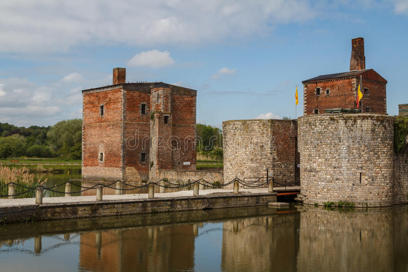 Ruins of the abandoned Havre castle royalty free stock photo