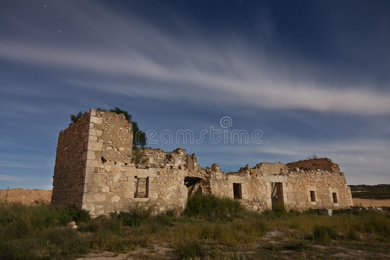Download Ruins Of An Abandoned House At Night Stock Photo - Image of ruin, night: 26537450