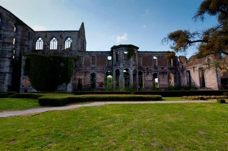 Ruins Abbey Aulne Thuin Landelies, Belgium stock image