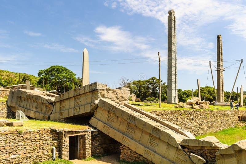 Ruins of Aksum (Axum), Ethiopia royalty free stock image