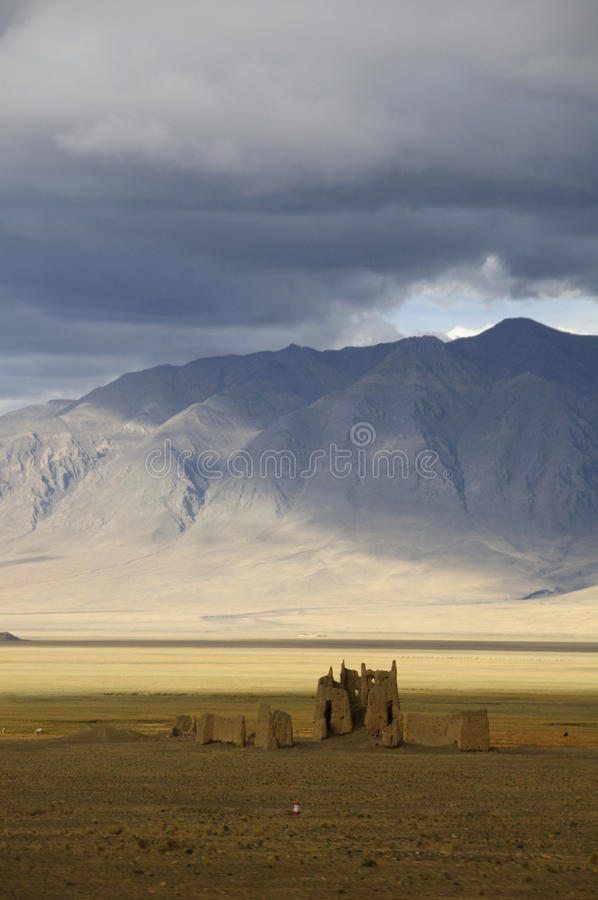 Download Ruins Along The Friendship Highway, Tibet Stock Image - Image: 15690955
