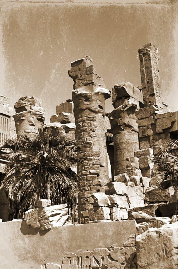 Ruins of Amon-Ra temple royalty free stock photo
