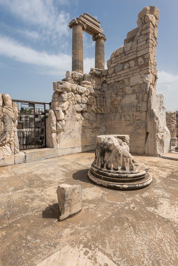Ruins of ancient Apollo temple, Turkey royalty free stock photo