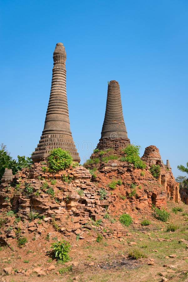 Download Ruins Of Ancient Burmese Buddhist Pagodas Stock Image - Image of blue, ohak: 38138421