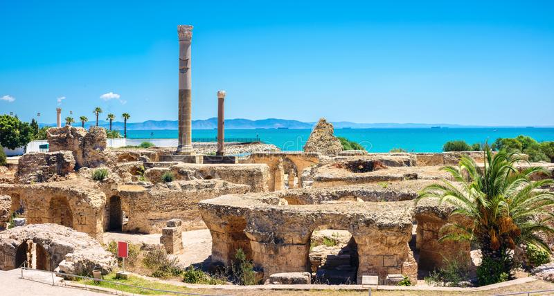 Ruins of ancient Carthage. Tunis, Tunisia, North Africa stock photos