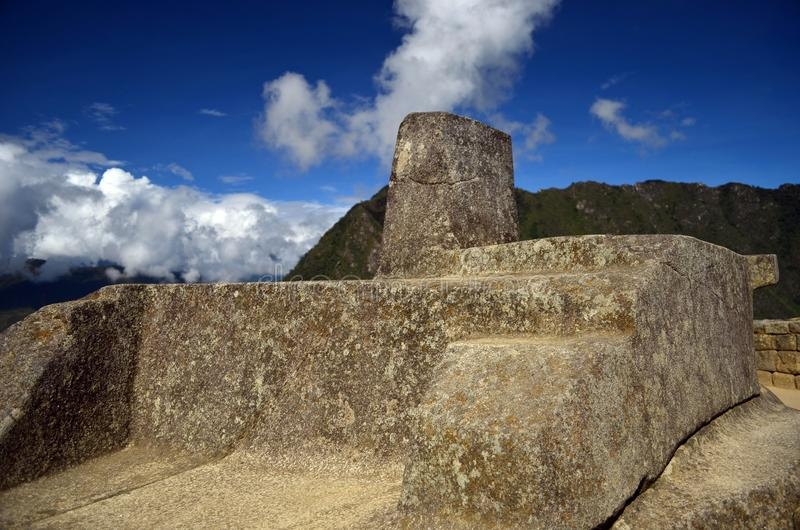 Ruins of the ancient city of Machu Picchu stock photo