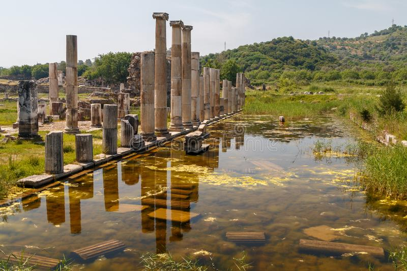 Ruins of the ancient city Magnesia Magnesia on the Maeander royalty free stock photography