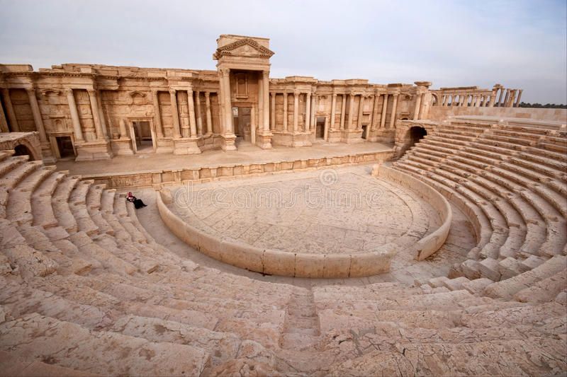 Ruins of ancient city of Palmyra - Syria royalty free stock photography