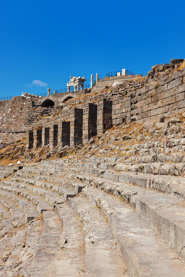 Ruins in ancient city of Pergamon Turkey stock photography