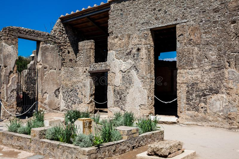 Ruins of the ancient city of Pompeii. The ruins of the ancient city of Pompeii royalty free stock photo