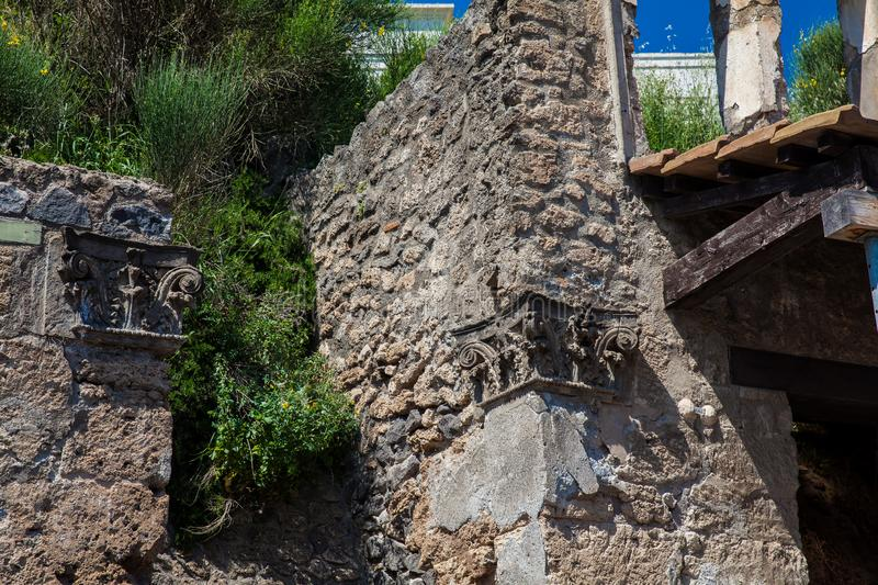 Ruins of the ancient city of Pompeii. The ruins of the ancient city of Pompeii stock photo