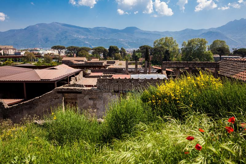 Ruins of the ancient city of Pompeii. The ruins of the ancient city of Pompeii stock photography