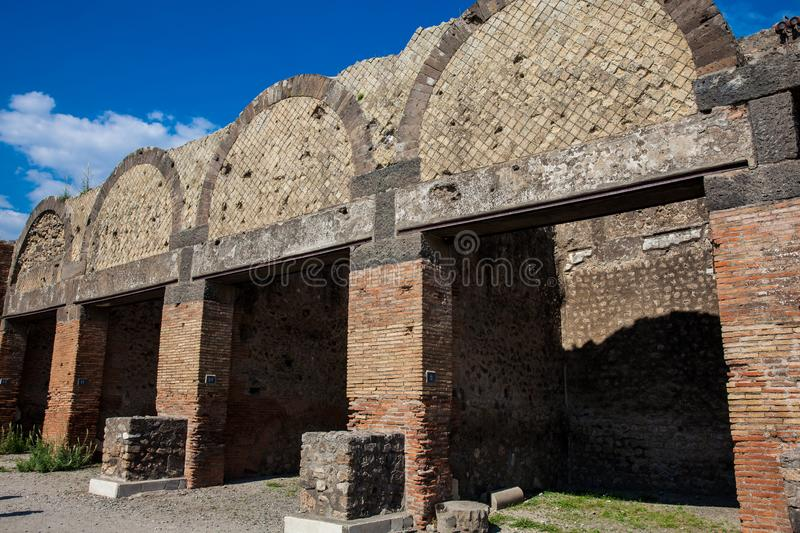 Ruins of the ancient city of Pompeii. The ruins of the ancient city of Pompeii royalty free stock image