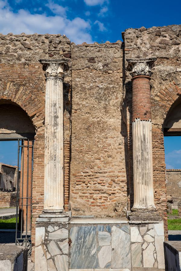 Ruins of the ancient city of Pompeii. The ruins of the ancient city of Pompeii stock photos