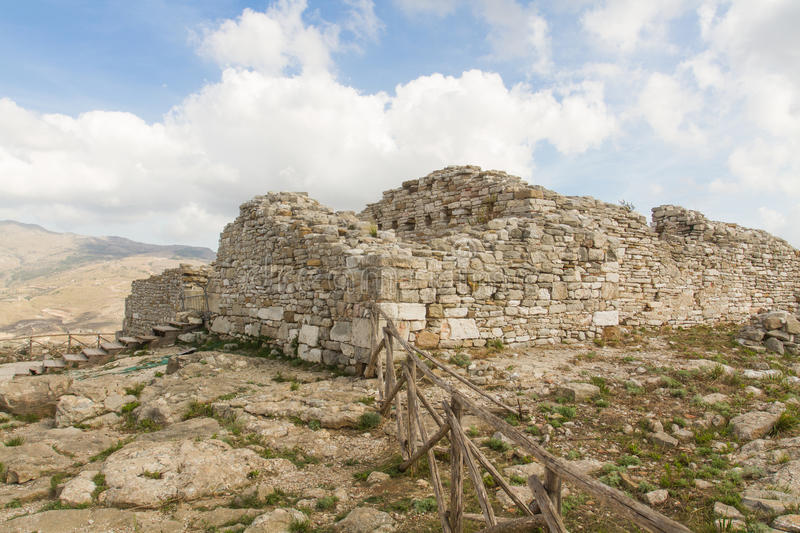 The ruins of the ancient city of Segesta royalty free stock photography