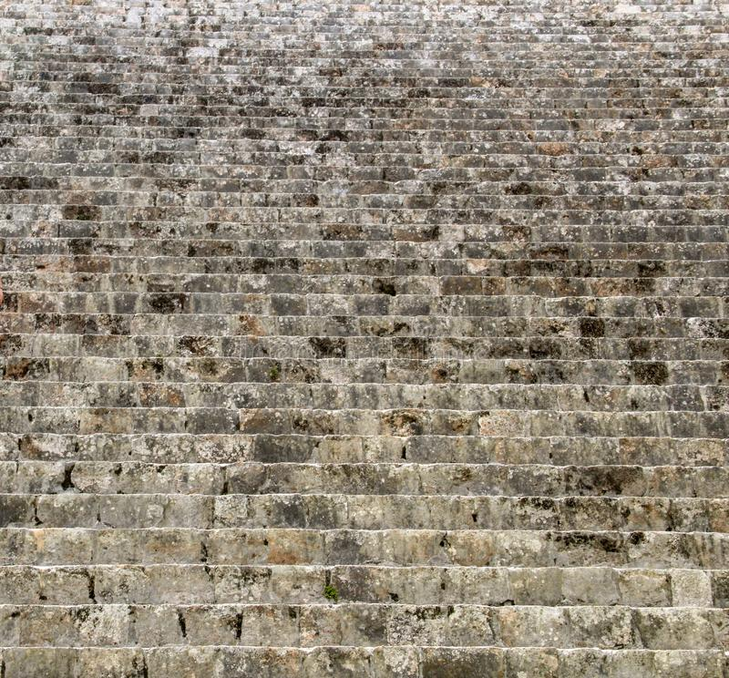 Ruins of ancient city of Uxmal. Pyramid stairs in ruins of the ancient city of Uxmal in Yucatan, Merida stock images
