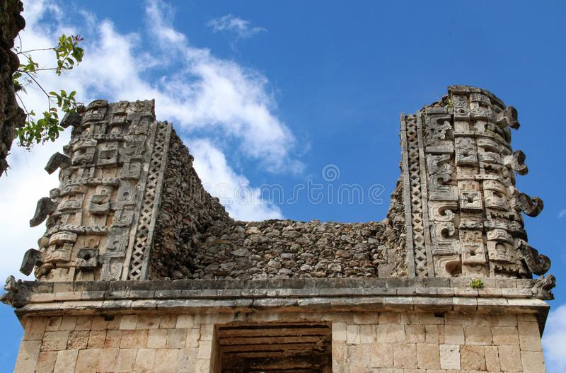 Ruins of ancient city of Uxmal stock photography