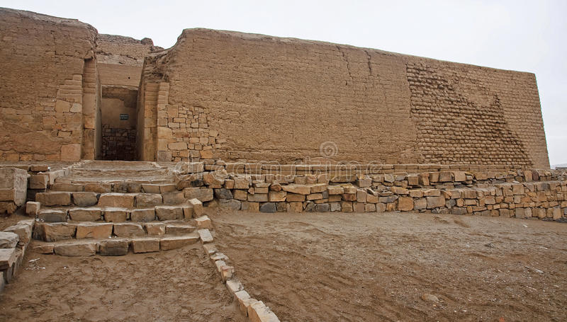 Pre-Columbian cultures archaeological site of Pachacamac stock images