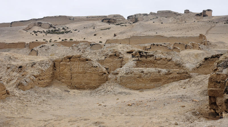 Pre-Columbian cultures archaeological site of Pachacamac royalty free stock photos