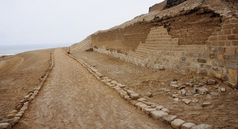 Pre-Columbian cultures archaeological site of Pachacamac stock photos