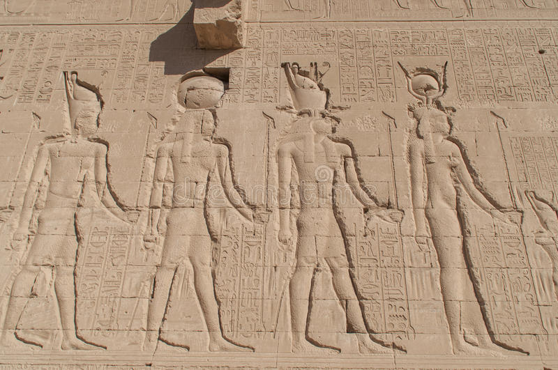 Ruins of ancient Egyptian temple stock photography