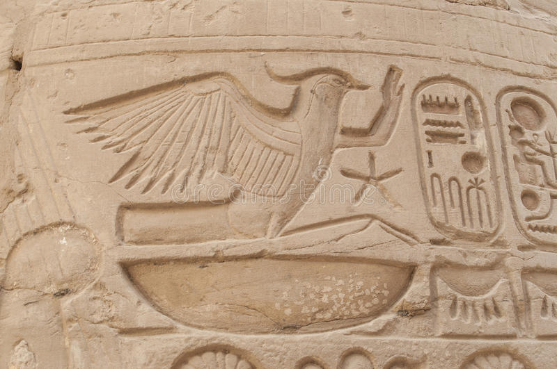 Ruins of ancient Egyptian temple royalty free stock images