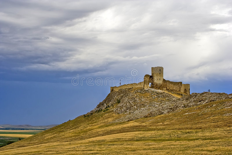 Ruins of ancient Enisala stock images