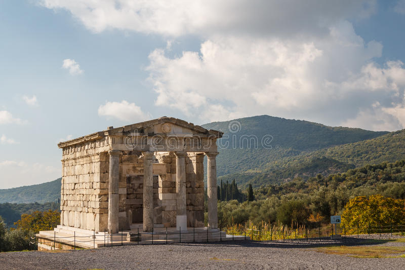 Ruins of the ancient Greek city of Messinia & x28;Messini, Messenia& x29; royalty free stock photos