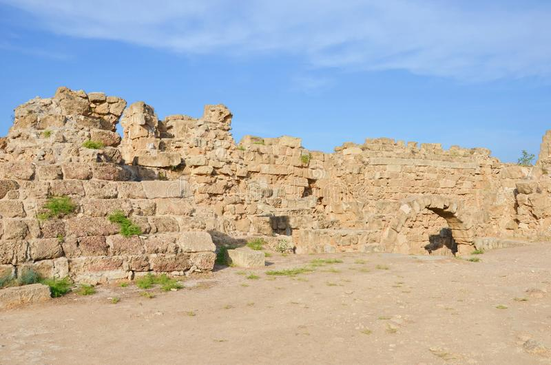 Ruins of ancient Greek city Salamis located near Famagusta in Turkish Northern Cyprus. It was an ancient Greek city-state. Nowadays one of the most significant royalty free stock photo