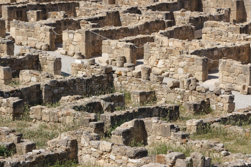 Ruins of the ancient Greek town Kameiros, Rhodes island royalty free stock photos