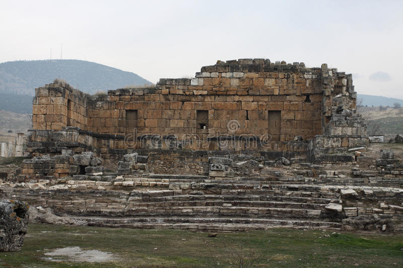Ruins of ancient Hierapolis royalty free stock photo