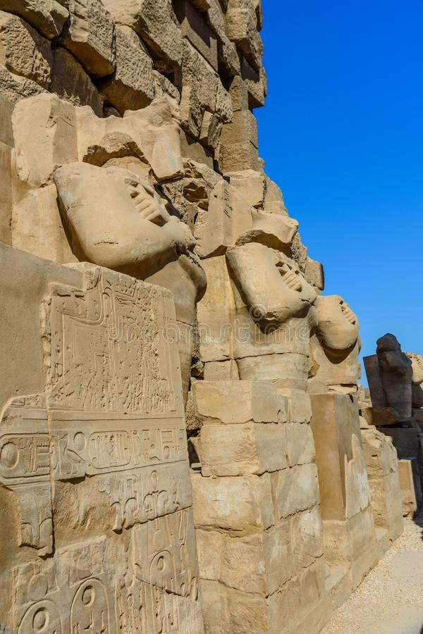 Ruins of the ancient Karnak temple. Luxor, Egypt. Ruins of ancient Karnak temple. Luxor, Egypt stock images