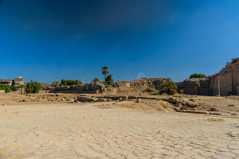 Ruins of the ancient Karnak temple. Luxor, Egypt. Ruins of ancient Karnak temple. Luxor, Egypt stock photo