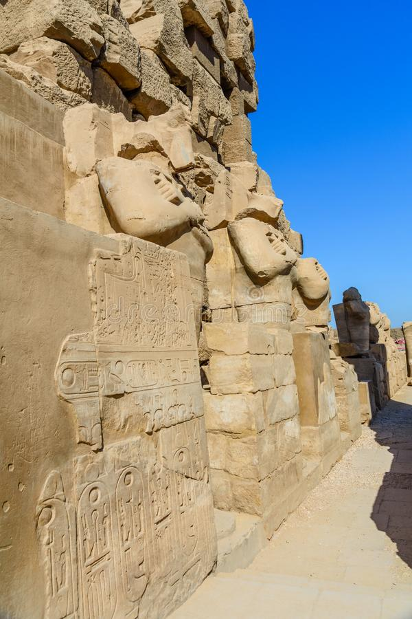 Ruins of the ancient Karnak temple. Luxor, Egypt. Ruins of ancient Karnak temple. Luxor, Egypt royalty free stock photography