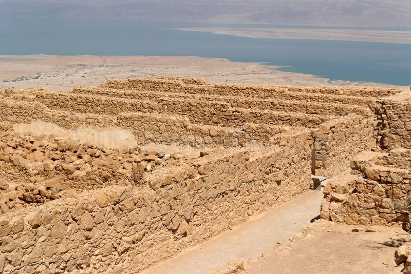Download Ruins Of Ancient Masada Fortress Nea Stock Photos - Image: 16918273