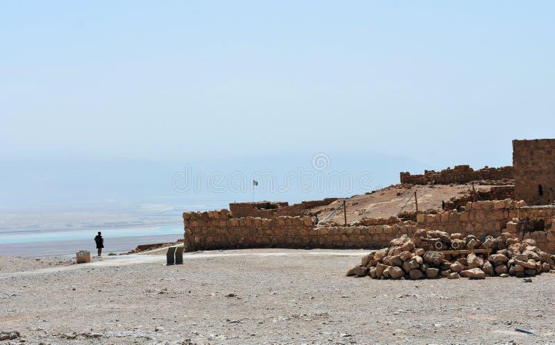 Ruins of the ancient Masada, Southern district, Israel. royalty free stock image