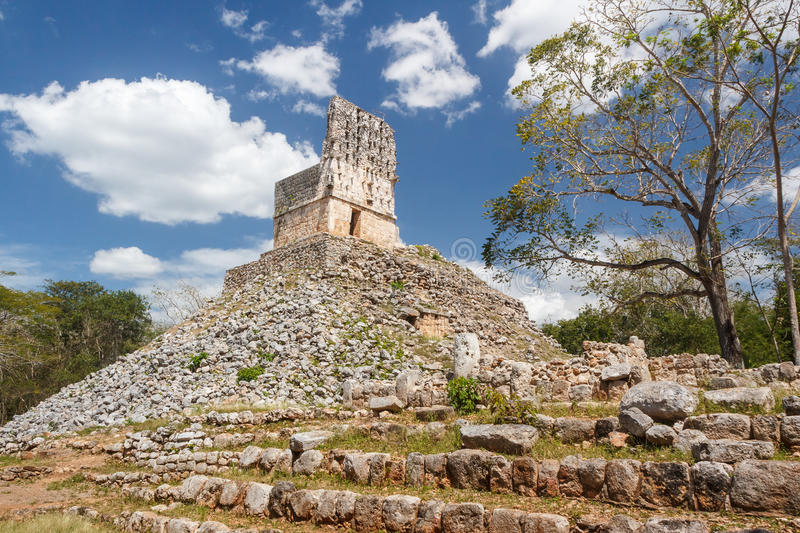 Ruins of the ancient Mayan city of Labna. Mexico royalty free stock images