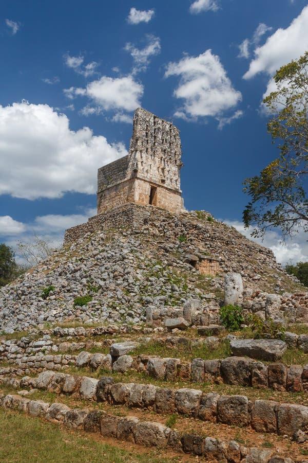 Ruins of the ancient Mayan city of Labna. Mexico stock photo