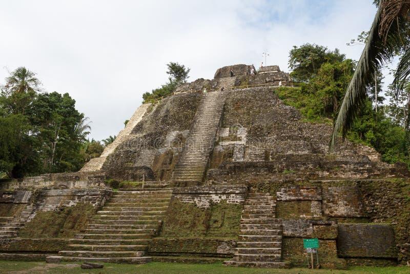 Ruins of the ancient Mayan city. LAMANAI / BELIZE - JANUARY 2015: Ruins of the ancient Mayan city Lamanai, Belize stock images
