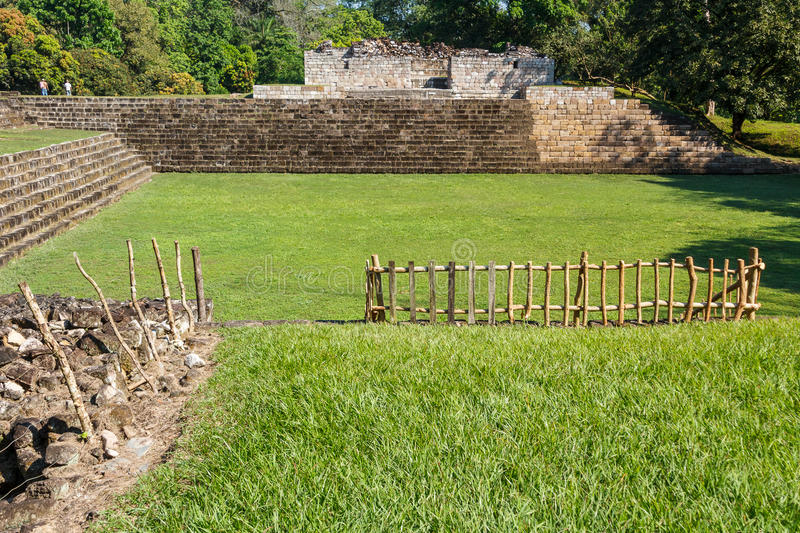 Ruins of the ancient Mayan city of Quirigua royalty free stock image