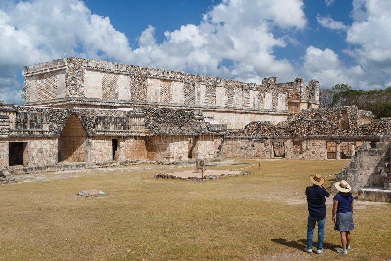 Ruins of the ancient Mayan city of Uxmal stock photos