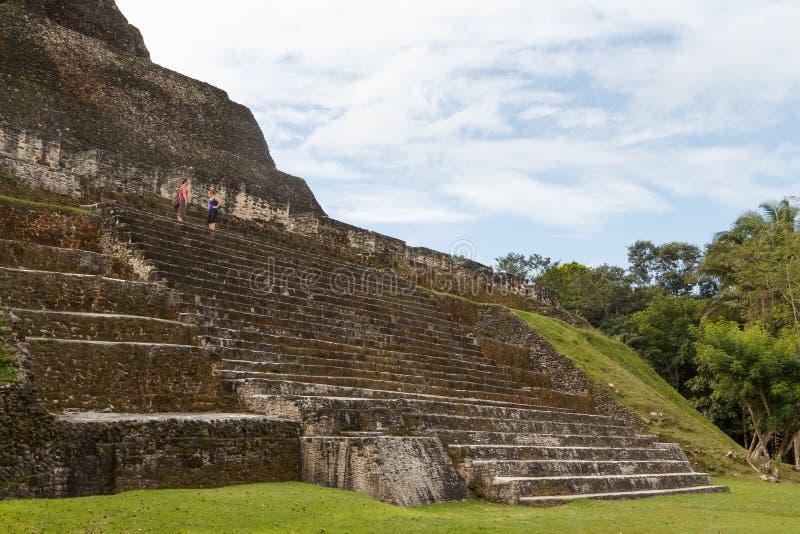 Ruins of the ancient Mayan city. XUNANTUNICH / BELIZE - JANUARY 2015: Ruins of the ancient Mayan city Xunantunich, Belize stock photos