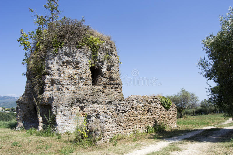 Ruins of ancient Praeneste royalty free stock photo
