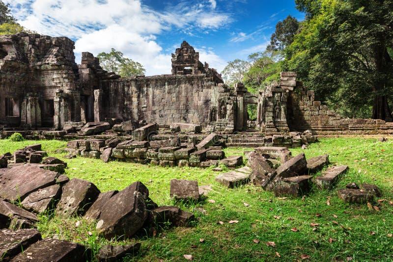 Ruins old Preah Khan temple, Angkor, Cambodia. Ruins ancient Preah Khan temple in Angkor royalty free stock image