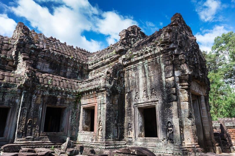 Ruins ancient Preah Khan temple, Cambodia. Ruins ancient Preah Khan temple in Angkor royalty free stock images